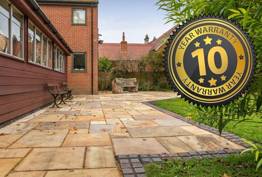 Indian Sandstone Paving Installation | New Driveway Company, Abingdon