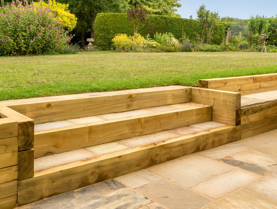 Wooden Sleepers for Retaining Walls - New Driveway Company